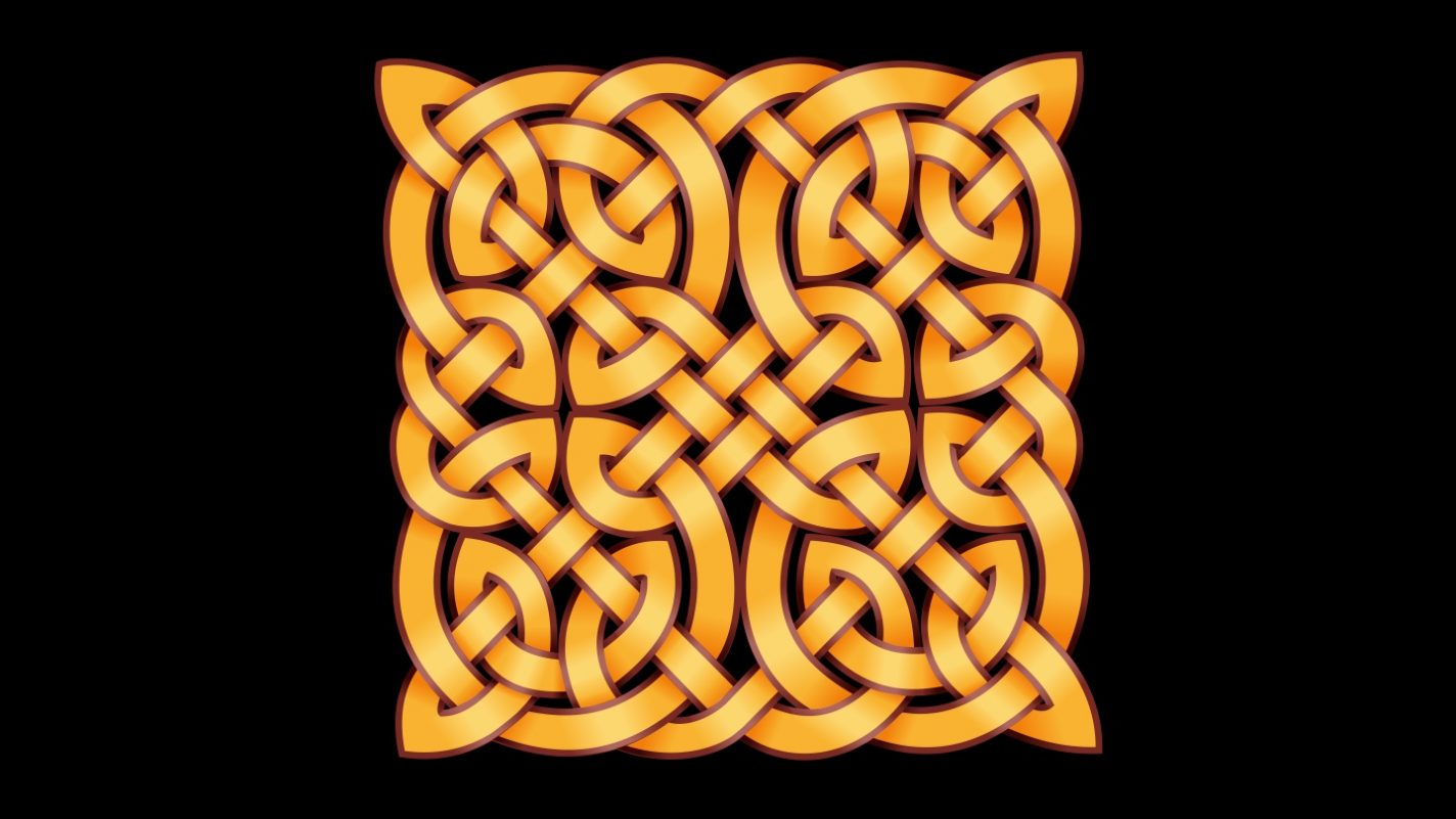 Celtic knot black and gold