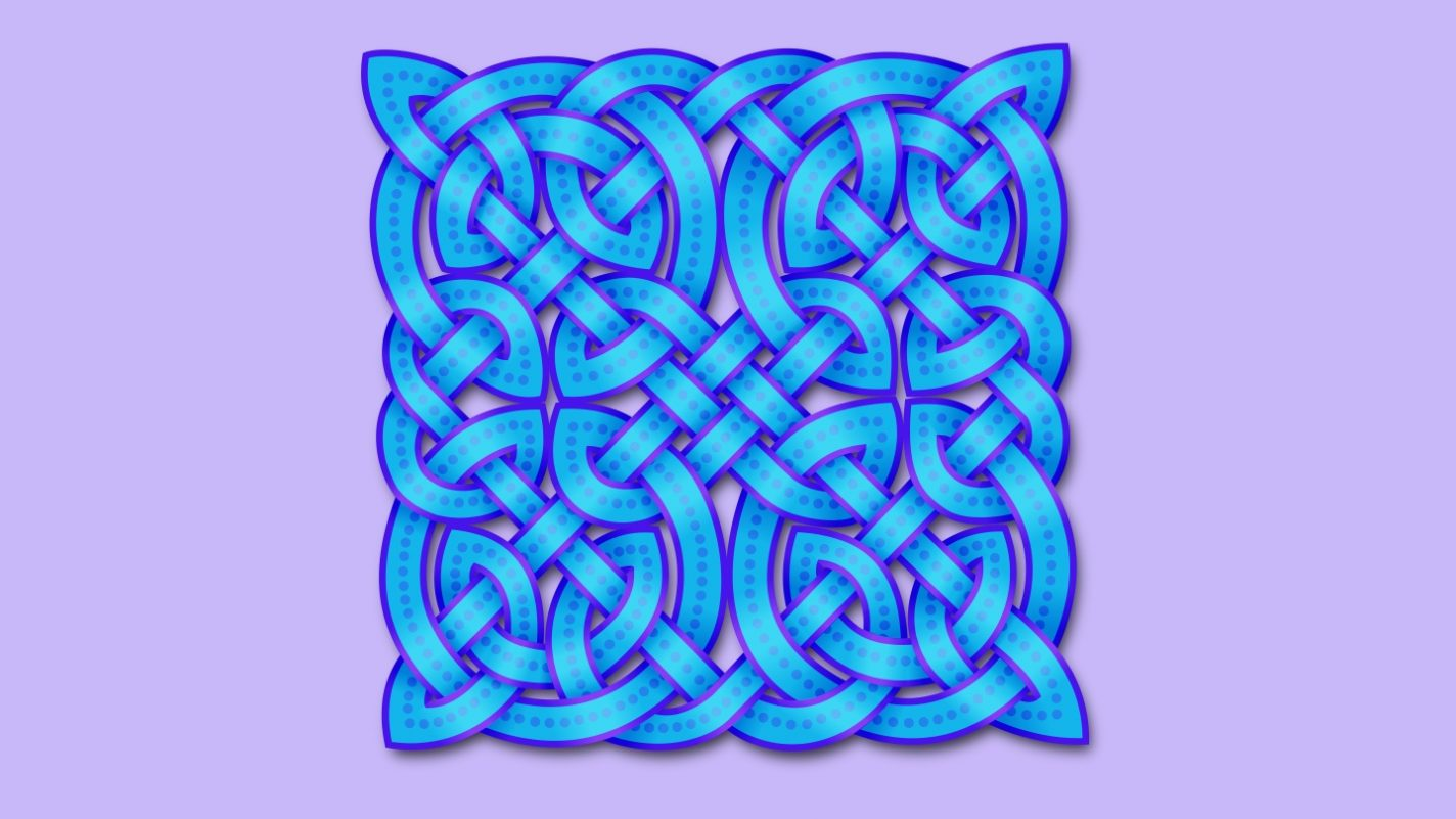 Celtic knot lilac and blue