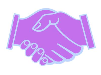 Creative collaboration - handshake